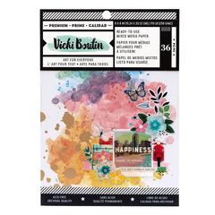 American Crafts Vicki Boutin Let's Wander Collection 6 x 8 Mixed Media Paper Pad
