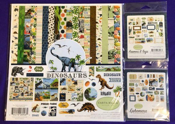 Carta Bella Dinosaurs 3 pc Happy Scrappy Bag