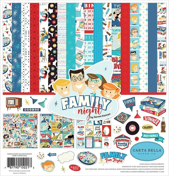 Carta Bella Family Night 12 x 12 Collection Kit