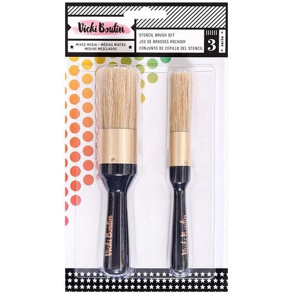 Vicki Boutin All The Good Things Collection Stencil Brush Set