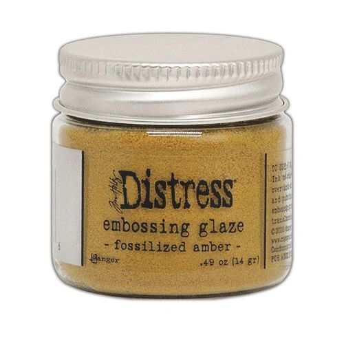Ranger Ink Tim Holtz Distress Embossing Glaze Fossilized Amber