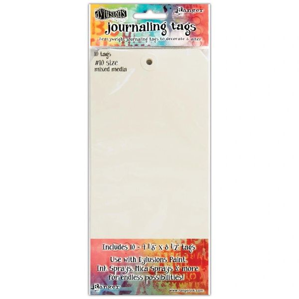 Dylusions Media Journaling Tags Size Number 10