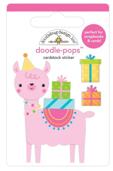 Doodlebug Design Hey Cupcake Doodle-Pop Party Llama