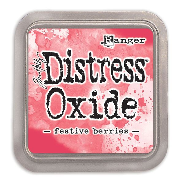 "Tim Holtz Festive Berries Distress Oxide Ink Pad 3"" x 3"""