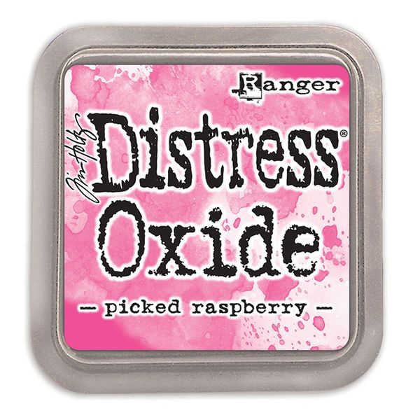 "Tim Holtz Picked Raspberry Distress Oxide Ink Pad 3"" x 3"""