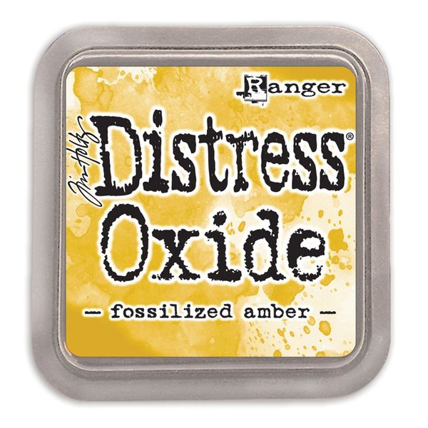 "Tim Holtz Fossilized Amber Distress Oxide Ink Pad 3"" x 3"""