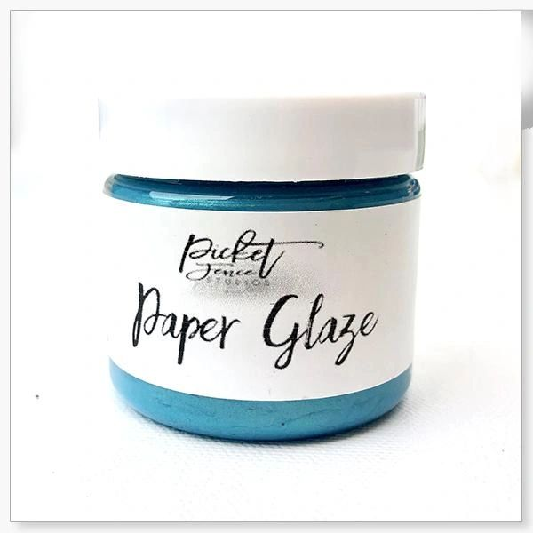 Picket Fence Ocean Poppy Paper Glaze