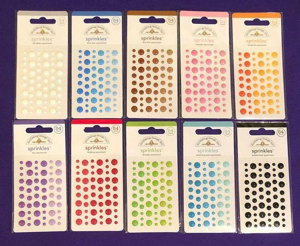 Doodlebug Design Inc Sprinkles Lot 10 packs