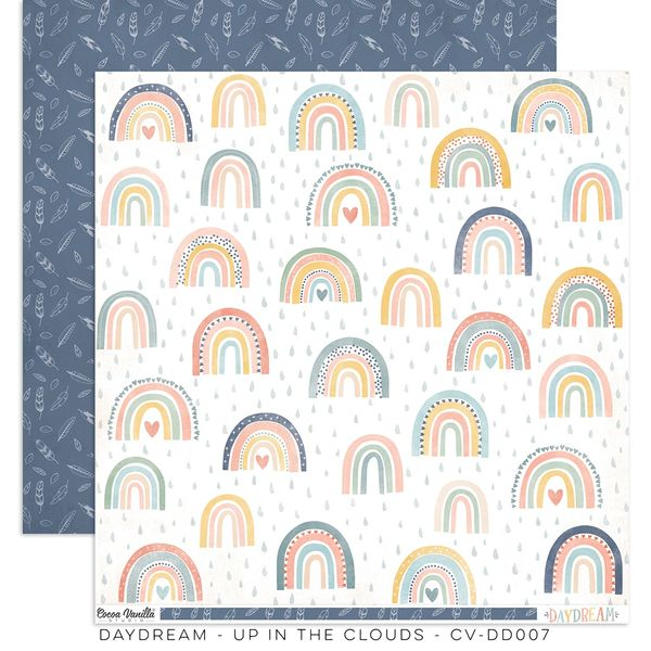 PREORDER Cocoa Vanilla Studio DAYDREAM Up In The Clouds 12 x 12 Cardstock