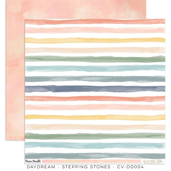 Cocoa Vanilla Studio DAYDREAM STEPPING STONES 12 x 12 Cardstock