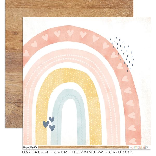 PREORDER Cocoa Vanilla Studio DAYDREAM OVER THE RAINBOW 12 x 12 Cardstock