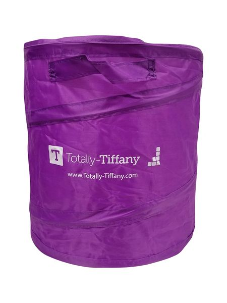 Totally Tiffany Pop Up Trash Can Purple