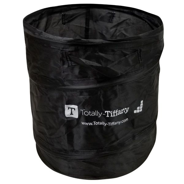 Totally Tiffany Pop Up Trash Can Black