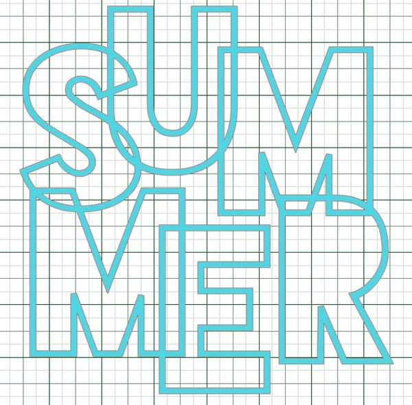 SUMMER Cut File by Paige Evans