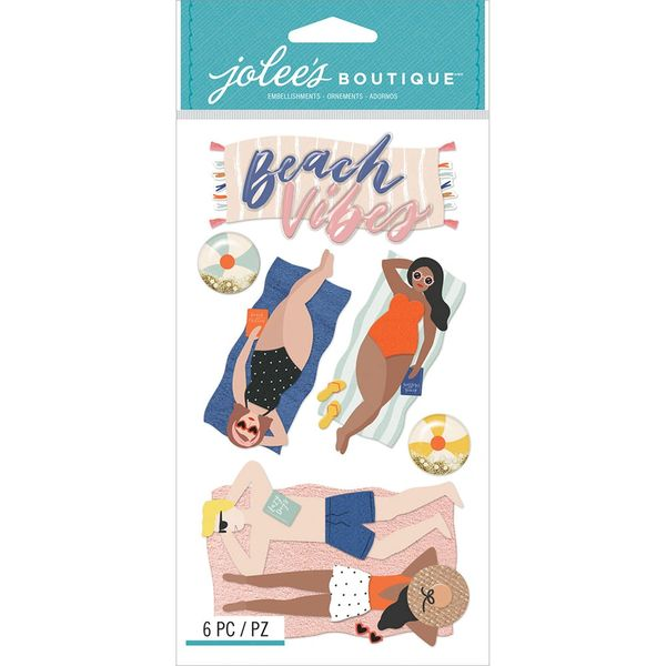 Jolee's Boutique Dimensional Stickers Lounging Beach Vibes