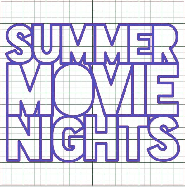 SUMMER MOVIE NIGHTS CUT FILE BY PAIGE EVANS