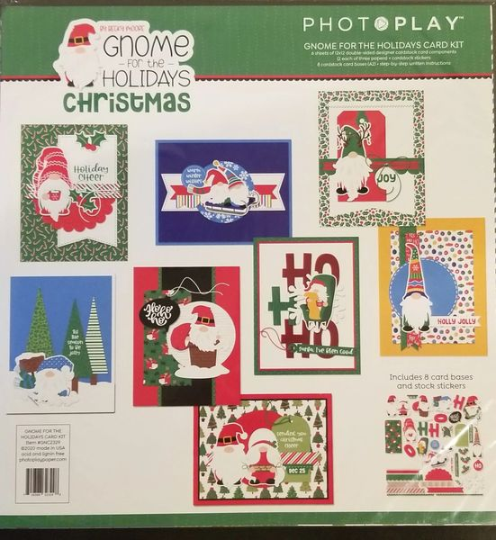 PhotoPlay Gnome for The Holidays Christmas Card Kit