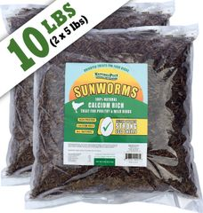 Sunworms(Black Soldier Fly Larvae) 10 lbs