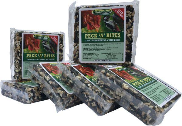 "Peck 'A' Bites - Seed & Worm 4.25"" (6 blocks)"