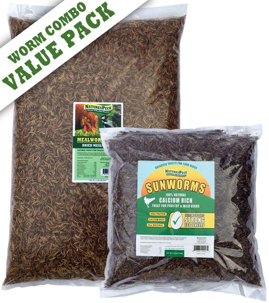 Value Pack 16 lbs (11 lbs Mealworm & 5 lbs Black Soldier Fly Larvae