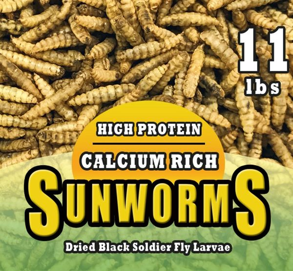 ( 11 lbs & New! 15 lbs bag) Sunworm(Dried Black Soldier Fly Larvae)