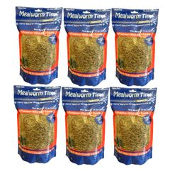 Mealworm Time® Dried Mealworms - 10oz (6 Pack)