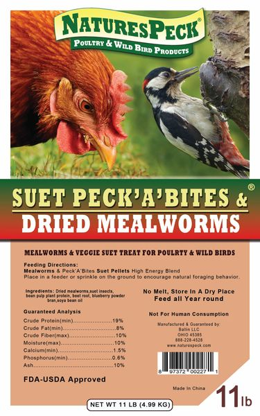 Mealworms & Suet Peck A Bites High energy Blend (11 lbs.)