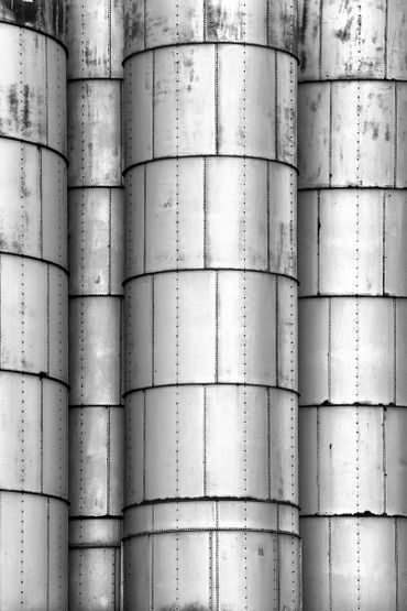 black and white photography,  Gerald Hill photography, Abstract, Grain elevators, architecture, old