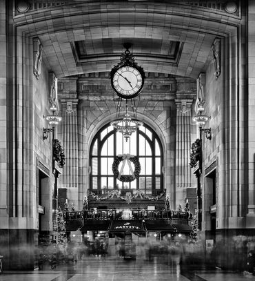 black and white photography,  photography for sale, union station KC, Gerald Hill Photography, train