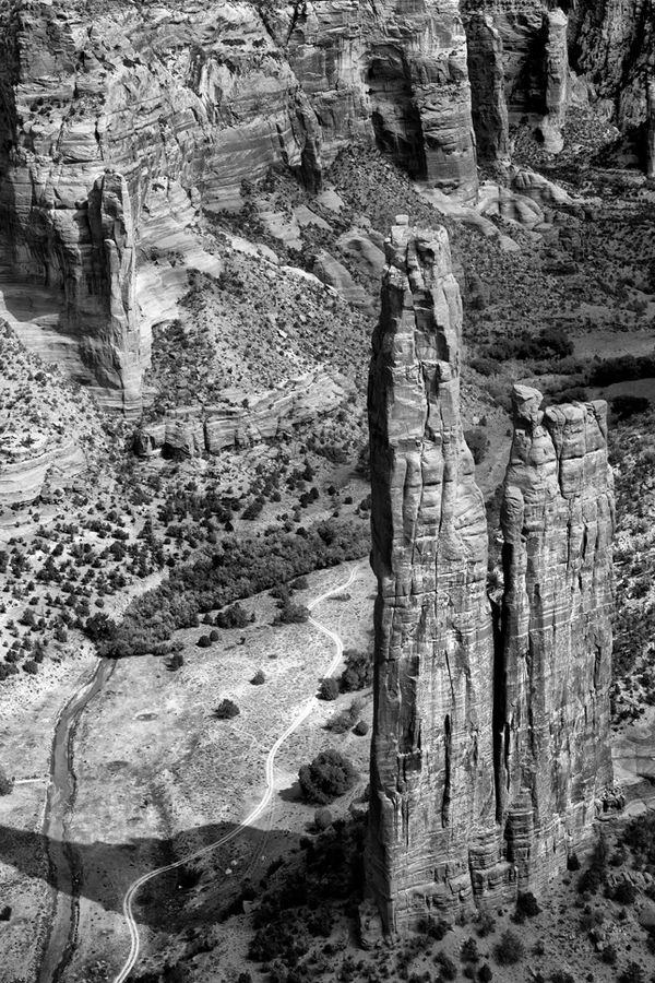Black and white photography, Gerald Hill Photography, Canyon de Chelly, Navajo, BIA, spider rock