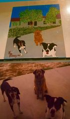 """""""Lake House Dog Days""""-Gifted/Not for sale, but artist may be commissioned"""