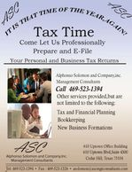Let us professionally prepare your tax returns.