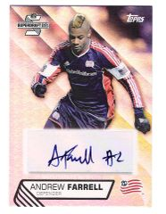2013 Andrew Farrell #1 draft Pick New England Revolution AUTO RC