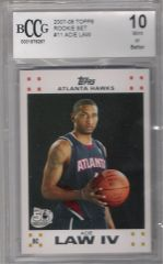 2007-08 Acie Law TOPPS Rookie Set White BCCG 10