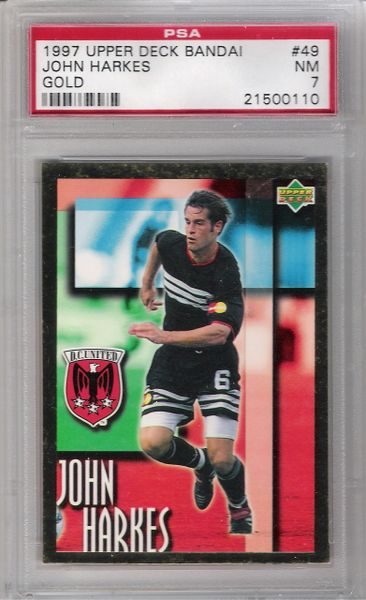 1997 John Harkes DC United MLS UD Ban Dai GOLD