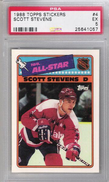 1988 Scott Stevens Topps Stickers #4 Capitals PSA 5