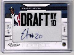 2010 Ekpe Udoh Warriors RC Auto on Draft NY Patch #299