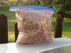 Shaved sassafras micro chip hardwood smoker wood chips