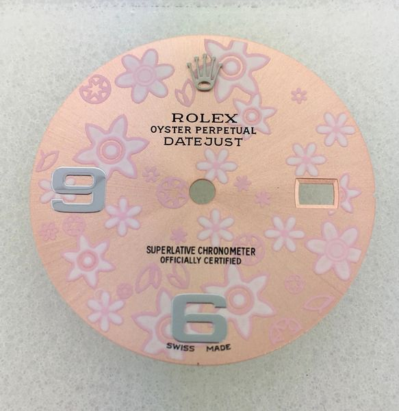 Rolex Pink Floral dial for Datejust 36mm  Stainless Steel models