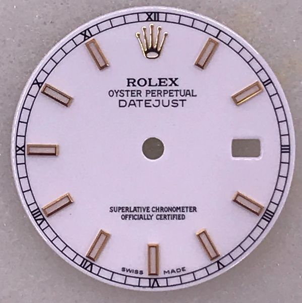 ROLEX CUSTOM MADE DIAL IN WHITE COLOR FIT ANY DATEJUST 36mm