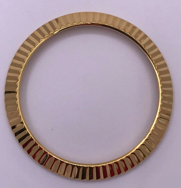 FLUTED BEZEL FOR 36MM ROLEX OYSTER DATEJUST IN GOLD , 16233, 116233, MANY  OTHERS