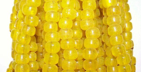 Crow Beads - Translucent Yellow
