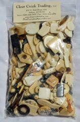 Large Mixed Bone Beads - Mixed Colors (Kilogram)