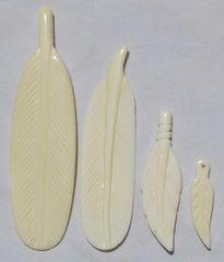 Bone Feather Pendant