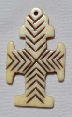 Bone Cross Pendant