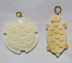 Bone Turtle Pendant