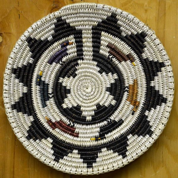 Hand Woven Navajo Coil Basket by Mary Black Duck