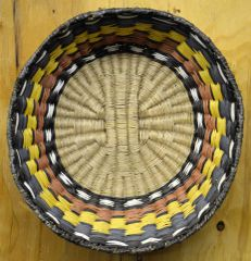 Rare Hand Woven Deep Bend Hopi Wicker Basket by Allie Seletstewa