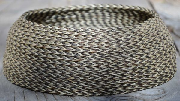 Deep Horsehair Braided Basket by David Bendiola