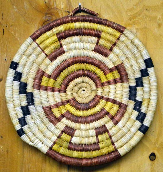 Hand Woven Hopi Cumulus Clouds Coil Basket